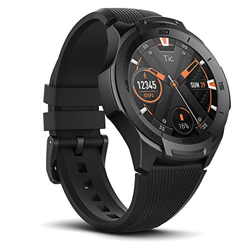 Ticwatch S2, waterproof Smartwatch with built-in GPS for outdoor activities, Wear OS by Google, compatible with Android and iOS (midnight)