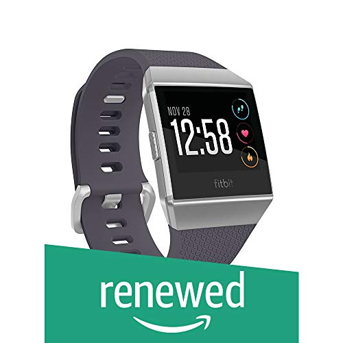 Fitbit Ionic GPS smart watch, Gray blue / Silver, One size (S & L bands included) (renovated)