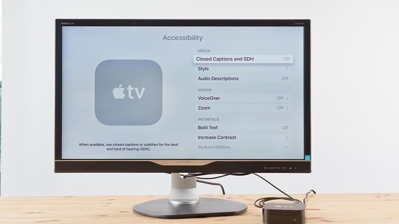 How to enable VoiceOver on Apple TV