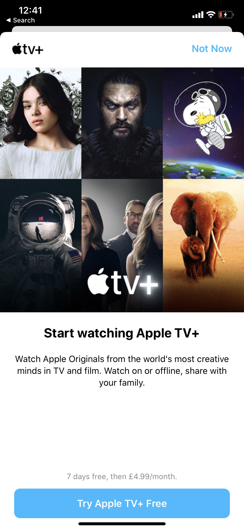 Apple TV + 7-day trial