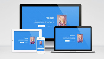 Fractal: Responsive single page HTML5 template