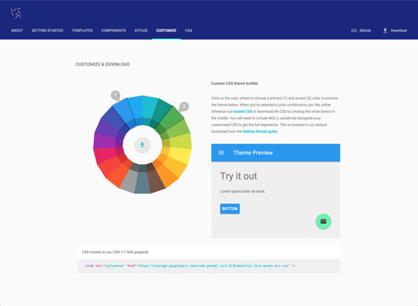 Web Lite Component Library for Material Design