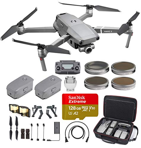DJI Mavic 2 Zoom with an extra battery with professional hard case, ND filter set and more