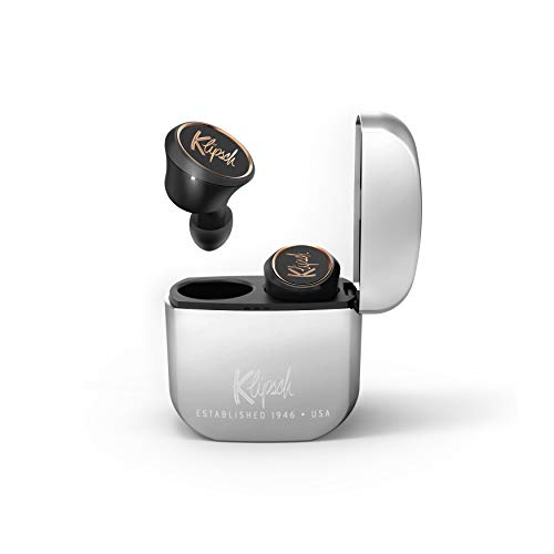 Klipsch T5 True wireless headphones - True wireless headphones with Bluetooth 5 Wireless connectivity, patented and ultra-comfortable ear tips