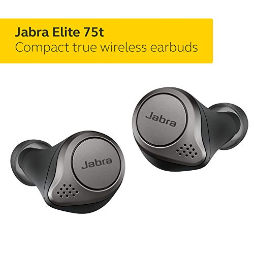 Jabra Elite 75t headphones - Alexa built-in, real wireless headphones with charging case, black titanium - Bluetooth headphones with a more comfortable and secure fit, long battery life and excellent sound quality