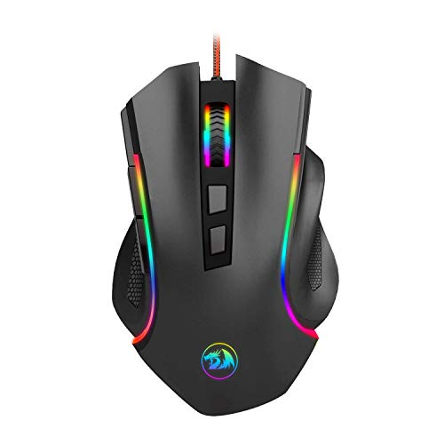 Redragon M602 Wired RGB Spectrum RGB gaming mouse with ergonomic backlight Programmable Griffin Mouse with 7 backlight modes up to 7200 ...