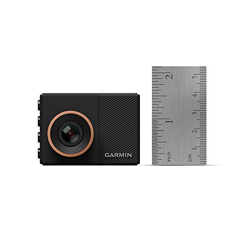 """Garmin Dash Cam 55, 1440p 2.0 """"LCD screen, extremely small Dash camera with GPS and voice control, loop recording, G sensor alerts and driver, includes memory card"""