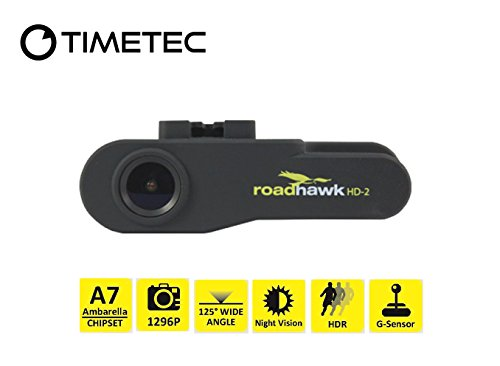 Timetec Road Hawk Car Driving Recorder 2K Super HD Vehicle Vehicle Car Traffic Accident / Incident Windshield Panel Video Audio Camera Recorder Camcorder DVR System (New version in October 2020)