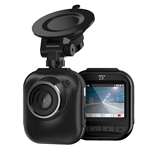 """TaoTronics QHD 2K dash cam, car panel camera with 2 """"LCD screen with night version, 160 ° wide angle lens, G sensor, parking mode and emergency recording"""