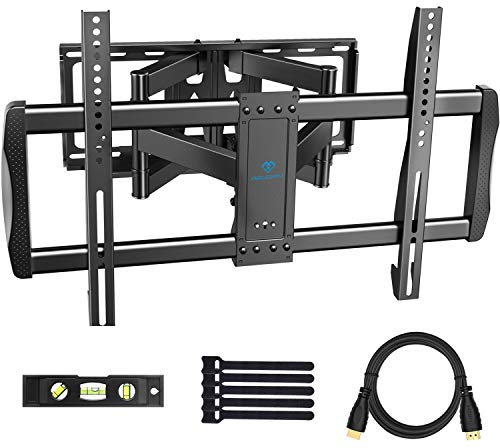 PERLESMITH Wall mount for TV with full movement - TV stand with 6 articulated arms for plasma TVs, 37 to 70 inch LED ...