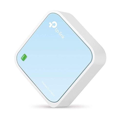 TP-Link N300 Portable Travel Nano Router - WiFi Bridge Modes / Range Extender / Access Point / Client, Mobile in Pocket (TL-WR802N) (renewed)