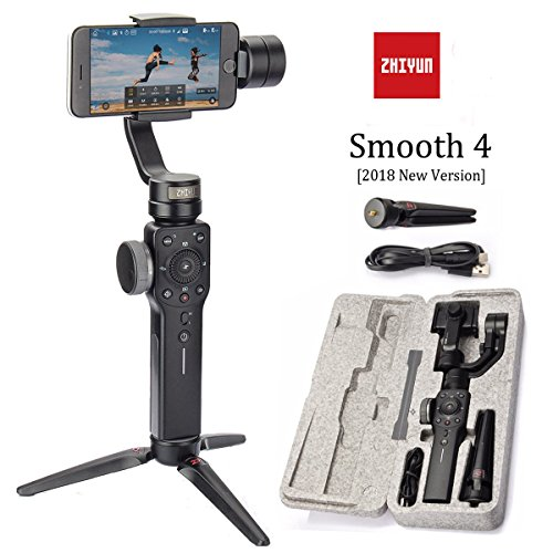 Zhiyun Smooth 4 - 3 Axis Hand Gimbal Stabilizer with Pull & Zoom Focus for Smartphone as iPhone Xs X 8 7 Plus ...