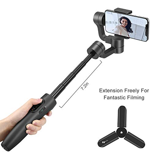 Feiyu Vimble 2 Smartphones Gimbal Stabilizer, 3-Axis Handheld Gimbal for iPhone Xs Max Xr Android Smartphone (Gray)