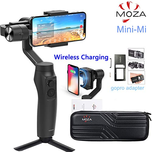 Moza Mini-MI 3-Axis Wireless Charging Cardan Stabilizer for Smartphone, Multiple Subject Detection, Initiation Mode, Timelapse for iPhone X / 8/7/7 Plus / 6/6 Plus, Samsung Galaxy ...