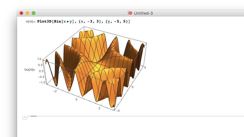 3D Graph of Mathematica
