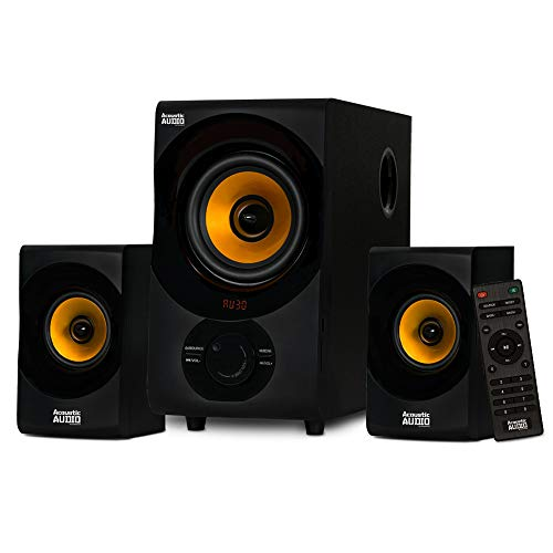Goldwood acoustic audio Bluetooth 2.1 speaker system 2.1 channel home theater speaker system, black (AA2170)