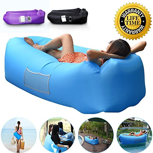 Anglink Outdoor Inflatable Lounger Sofa, Thick Durable Comfortable, Air Sofa Blast Lounge Sofa With Carry Bag For ...