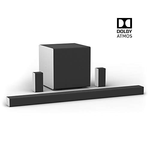 VIZIO SB46514-F6 46-inch 5.1.4 premium home theater sound system with Dolby Atmos and wireless subwoofer, plus rear speakers