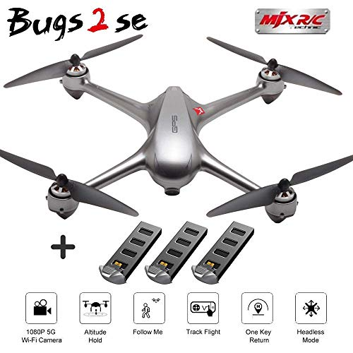 Teeggi MJX Bugs 2se RC Quadcopter Drone with 3 Batteries-GPS One Key ...