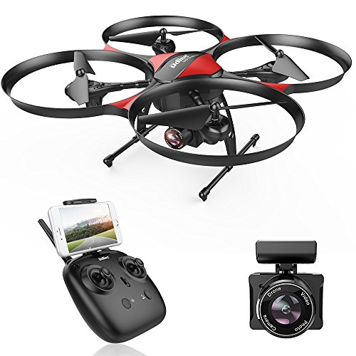 UDI U818PLUS WiFi FPV drone with 2MP HD wide-angle camera, 15-minute flight ...