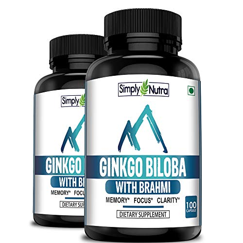 Simply Nutra Ginkgo Biloba (Supports Memory, Focus and Clarity) - 120mg - 100 Vegetarian Capsules (2)