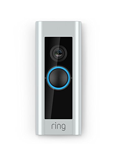 Ring Video Pro buzzer, with HD video, motion-activated alerts, easy installation (existing bell wiring required)