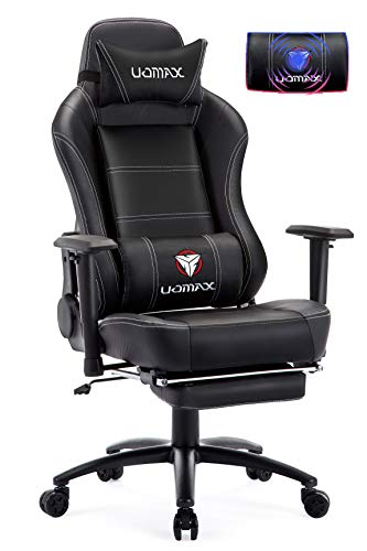 UOMAX Gaming Chair Recliner rocking office chair for computer, Recliner style office chair with footrest and lumbar support ...