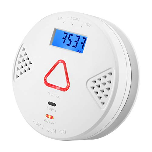 Carbon Monoxide Detector for Home Security CO Monitor with Digital Display and Voice Warning CO Alarm Detector 10 Years of Life