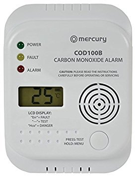 Carbon monoxide detector with LCD display (COD100B)