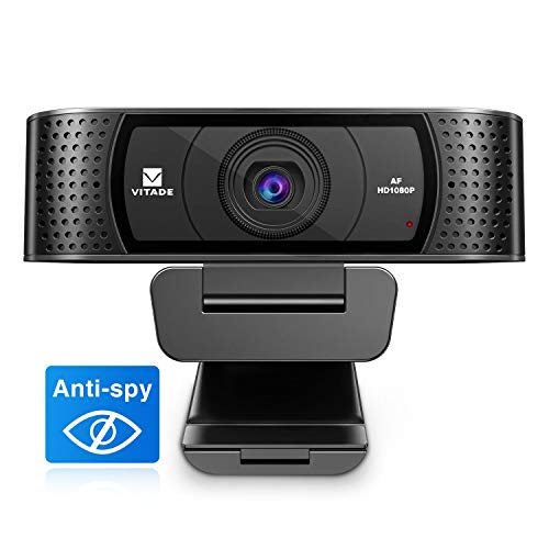 HD 1080P Webcam with microphone and sliding cover, Vitade 928A Pro USB Computer Web Camera Video Cam for streaming games ...