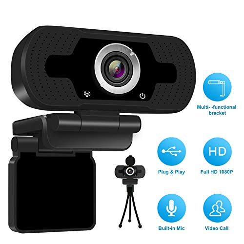 Anivia 1080p HD Webcam W8, USB camera for desktop laptop, Mini Plug and Play that calls the computer camera, Built-in microphone, ...