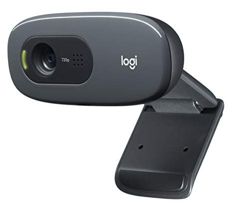 Logitech C270 Webcam for desktop or laptop, widescreen HD 720p for video calling and recording