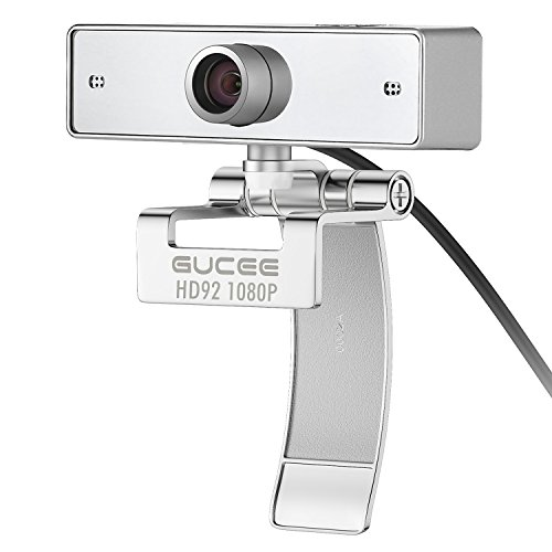 1080P HD Webcam, HD92 Wide Angle Skype Web Camera with USB Plug and Play Web Cam Microphone, Widescreen Video ...