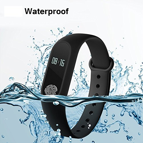 Jiyanshi Smart Bracelet with OLED Screen, Dynamic Heart Rate Monitor Compatible with Xiaomi Redmi Y1 / Note 5A