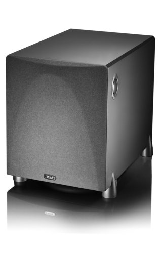 Definitive Technology ProSub 800 - Compact high power 300W subwoofer | Heartbeat sound for home cinema system | (Single, Black)