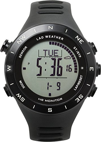 LAD-WEATHER Outdoor clock Heart rate monitor Altimeter Barometer Compass thermometer USB rechargeable Climbing Watches