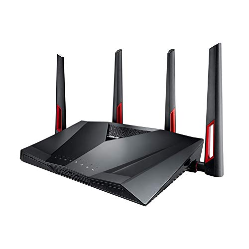 ASUS Gigabit Dual Band WiFi Router (AC3100) with MU-MIMO, compatible with Trend Micro AiProtection network security, AiMesh for WiFi Mesh system and WTFast game accelerator (RT-AC88U)