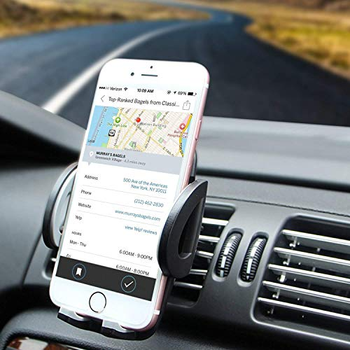 Amoner CD slot phone holder, universal cell phone holder for car CD phone mounting compatible with all smartphones ...