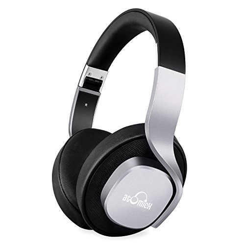 Bluetooth headphones, iDeaUSA Wireless headphones with microphone over headphones 20 hours of play Passive noise canceling headphones for smartphones with TV PC Laptop - Black / Gray