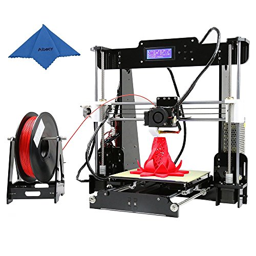 Anet A8 High Precision 3D Printer Kits for Desktop Reprap i3 DIY Self-Assembly with 8GB SD Card Aibecy Cleaning Cloth