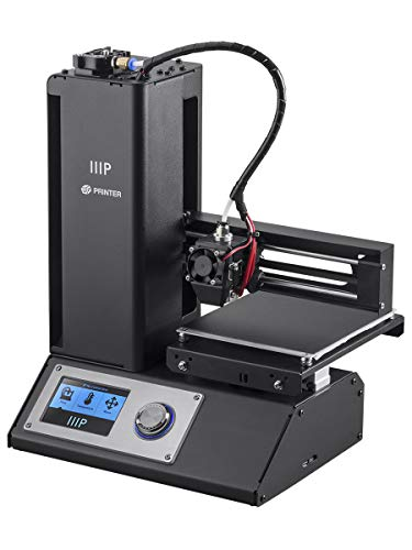 Monoprice Select V2 3D Printer - black with heated mounting plate (120 x 120 x 120 mm), fully assembled + free sample of PLA filament and pre-loaded MicroSD card with printable 3D models