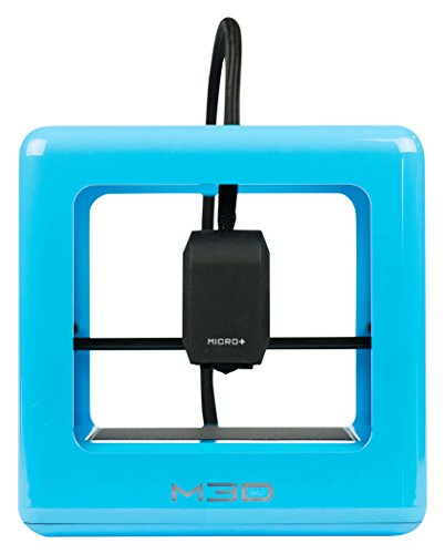 Desktop 3D printer M3D Micro + for home, professional and school use, includes FREE software, compatible with PLA / Tough / ABS-R / PETG 1.75 mm filament materials, blue