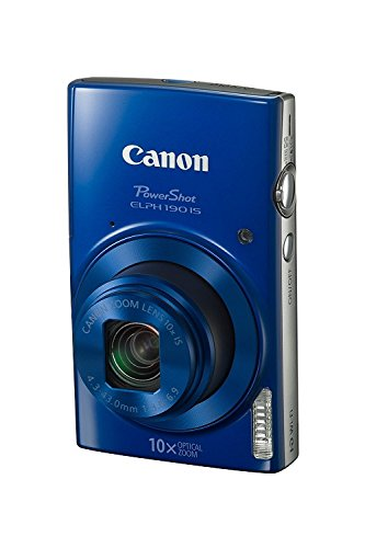 Canon PowerShot ELPH 190 digital camera with 10x optical zoom and image stabilization - Wi-Fi and NFC enabled (blue)