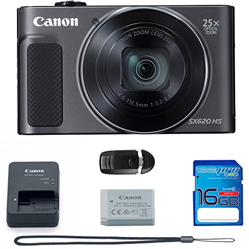 Canon PowerShot SX620 HS digital camera (black) + Deal-Expo package.
