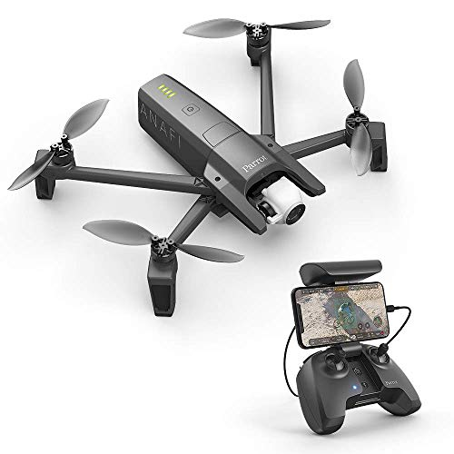 Parrot PF728000 Anafi Drone, foldable quadcopter drone with 4K HDR camera, compact, ...