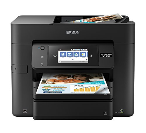 Epson Workforce Pro WF-4740 Color inkjet multifunction printer, copier, scanner with Wi-Fi Direct, Amazon trace enabled