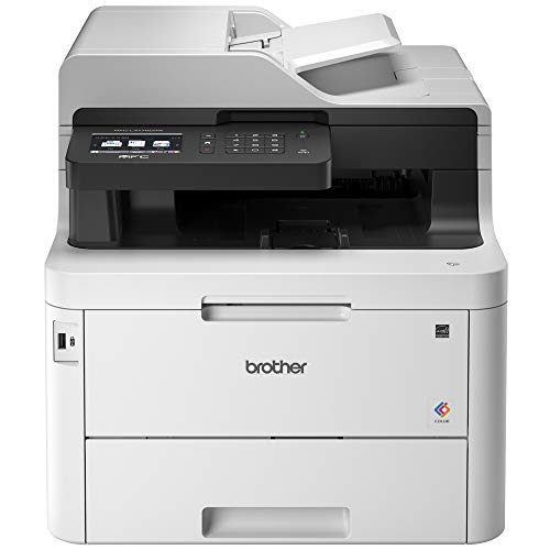 Brother Mfc-L3770CDW color multifunction laser printer with duplex wireless printing and scanning, black