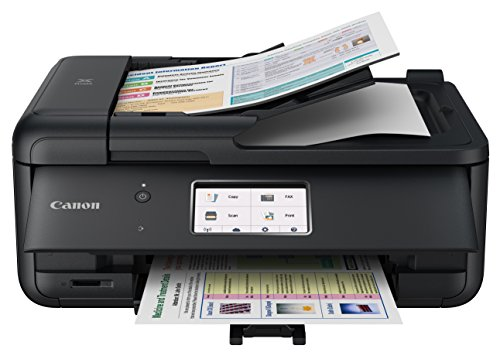 Canon PIXMA TR8520 Wireless Multifunction Printer | Mobile printing | Photo and document printing, AirPrint (R) and Google Cloud Printing, black