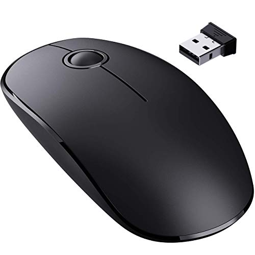 VicTsing silent wireless mouse, slim laptop mouse with Nano receiver, wireless ergonomic laptop mouse, USB computer mouse for ...