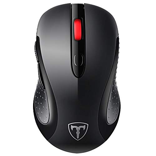 VicTsing Wireless Mouse 2.4G Wireless optical laptop mouse with Nano USB receiver, 6 buttons, 5 adjustable DPI levels, 15 months battery life, ...